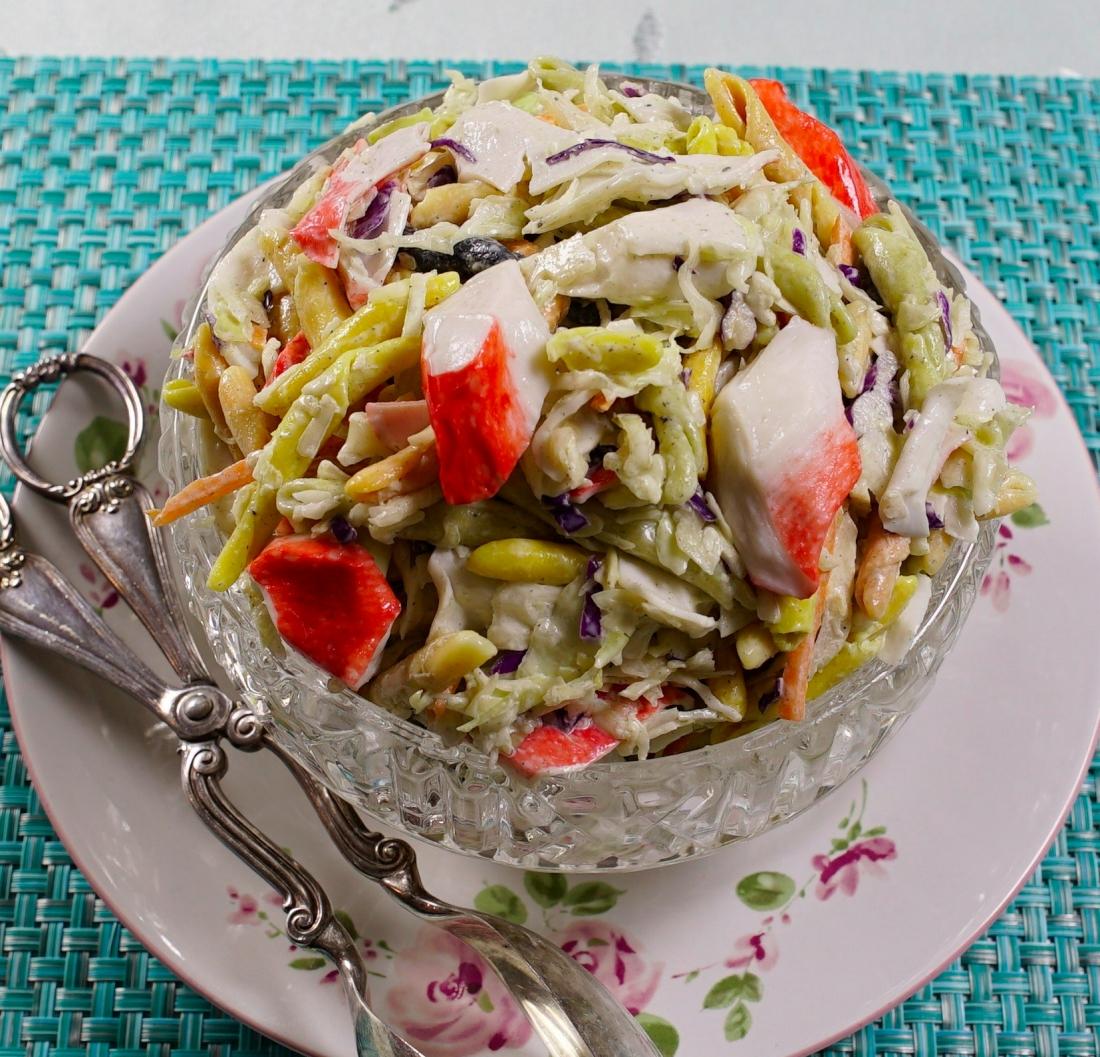 pasta salad slaw